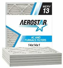 Aerostar 14X14X1 Merv 13 Pleated Air Filter Made In The Usa 6-Pack