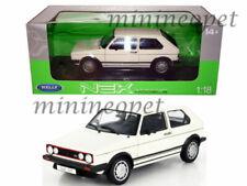 WELLY 18039 1983 83 VW VOLKSWAGEN GOLF 1 GTI 1/18 DIECAST MODEL CAR WHITE