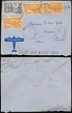 FRENCH CONGO AFRICA 1940 to CORSICA...AIRMAIL AEF TCHAD