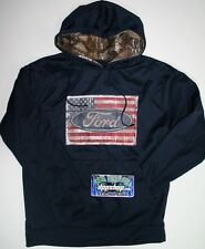 Ford Real tree extra camo hoodie hooded sweatshirt sweater shirt USA flag gear