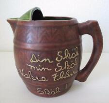 California Pottery Maxine Cloud Pitcher Vintage 40s 50s Brown Green Swedish Skol