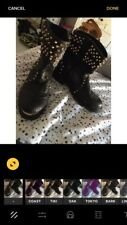 River Island Black And Gold Studded Small Boot