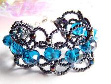 Modeschmuck-Armbänder aus Glas für besondere Anlässe-Karabinerverschluss