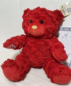 Build A Bear Red Roses Bear NWT