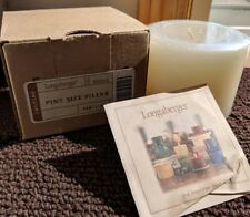 Longaberger Pint Size Pillar Scented Candle - Vanilla 90040 - Original Packaging