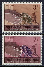 VIETNAM, SOUTH Sc#281-2 1966 Refugees from Communist Oppression MNH
