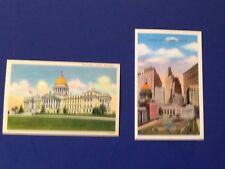 Vintage Jackson Mississippi Postcards State Capitol,