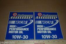 Union 76 High Performance Motor Oil 10W-30 NASCAR Racing Vintage Sticker Decals