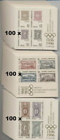 100 x GRIECHENLAND OLYMPIADE 1996 BLOCK 13-15 ** MICHEL 4200,00 GREECE WHOLESALE
