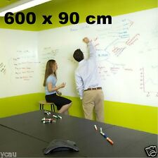 Large Whiteboard Sticker 600 x 90 cm 3 Dry Erase Markers a Mini Eraser