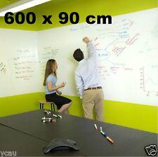 Large Whiteboard Sticker 600 x 90 cm 3 Dry Erase Markers a Mini Eraser