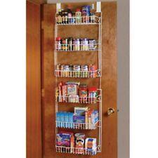 Over the Door Storage Rack Kitchen Pantry Spice Organizer Closet Space Saver