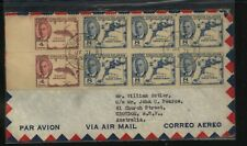 Virgin  Islands  8 stamps  franking cover to  Australia        MS0711