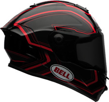 Bell Star rythme rouge / CAQUE motocycle noir - XS