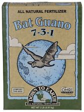 Down to Earth Organic Bat Guano Fertilizer Mix 7-3-1, 2 lb