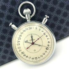 Vintage Sport Stopwatch SLAVA Soviet Split USSR Chronograph Mechanical 5498 0.1s