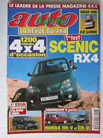 AUTO VERTE  4X4 N° 226 / SCENIC RX4/PAJERO 2000/HONDA HR-V ET CR-V