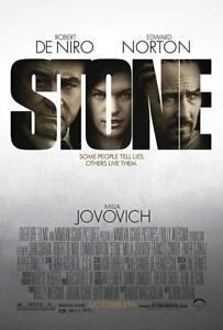 STONE DVD Robert DeNiro - MILLA JOVOVICH - EDWARD NORTON - Thriller Movie R4