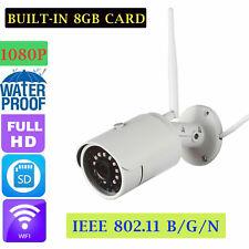 Wireless HD 1080P Home Security CCTV WiFi IP Camera+8GB TF Card IR Night Vision