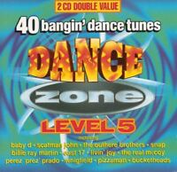 DANCE ZONE LEVEL 5 various (2X CD compilation 1995) house, synth pop, euro house