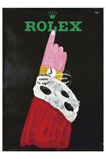 PUBLICITé:MONTRE ROLEX Rf0465-POSTER/REPRODUCTION A3+(*) d1 AFFICHE VINTAGE