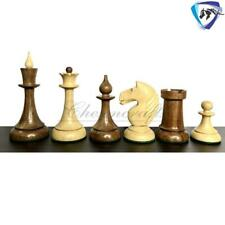"""4.1"""" 1950 Soviet(Russian) Latvian Chess Pieces Set in Golden Rose wood & Boxwood"""