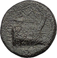 Demetrius I Poliorcetes Helmet Macedon Kingdom Galley Ship Greek Coin  i31364