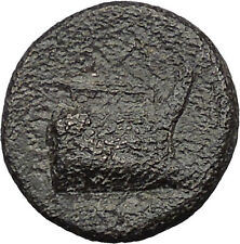 Demetrius I Poliorcetes Helmet Macedon Kingdom Galley Ship Greek Coin  i31364