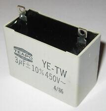 Teapo 3uF Motor Capacitor - 450 VAC - Polypropylene Motor Start Capacitor
