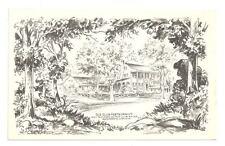 ALEXANDRIA VA Old Club Restaurant Vintage B&W Illus PC