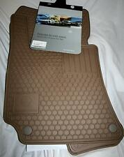 2003 TO 2009 Mercedes E320 Rubber Floor Mats - REAL FACTORY OEM ITEMS - BEIGE