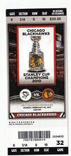 2011 CHICAGO BLACKHAWKS VS PITTSBURGH PENGUINS FULL TICKET STUB 2/20/11