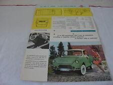 DAF 600 BROCHURE/PROSPEKT 1960
