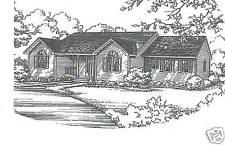 3 Bdrm 2 Bath 1780 SF Ranch / Opt 2 Car Garage Under House Building Plans