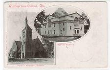 Greetings from Oshkosh Wisconsin WI Baptist Temple Trinity Church 1905 postcard