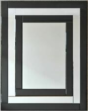 Art Deco Iris Mirror - Black & Silver Mirror Framed Mirror