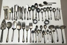 50 Silverplate Serving Catering Restaurant Wedding Flatware Art Crafts Jewelry