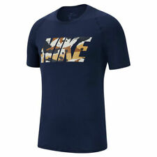 Nike Men's Pro Fitted Navy/Camo Slim Fit Short S Top (At3107-451) Sizes S/M/L/Xl