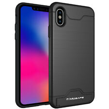 For iPhone XS Max XR X 6 6S 7 8 Plus Hybrid Shockproof Card Holder Kickstand
