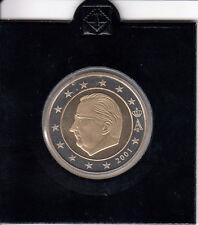 Belgien 2 Euro 2001 Kursmünze in spiegelglanz/PP Auflage 15.000 - Rarität