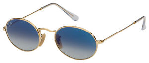 Ray-Ban Sunglasses RB 3547N 001/3F 51 Gold   Clear Gradient Light Blue Lens