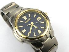 Mens Seiko Kinetic Titanium Watch 5M42-0L60 - 100m