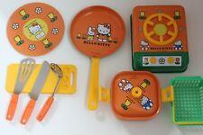 RARE Sanrio Hello Kitty Kid Toy Play House Kitchen Tinplate 90's Made In Japan