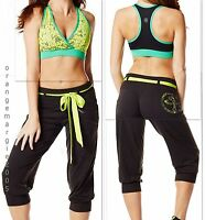 Zumba 2Pc.SET! Denim Dance-able SweatPants Slim Jeggings /& Sweatshirt Top S /& M