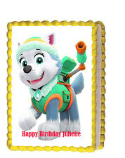 Paw Patrol Everest Birthday Party Edible Cake Topper 1/4 icing sheet Personalize