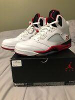 Air Jordan 5 Retro Fire Red 2013 Size 11.5 136027-120