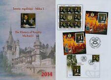 Rumänien 2014 Geschichte,Michael I. Mi.6888,Zf.,KB,Block 607 A,Block 607 B ,FDC