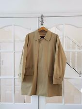 Vintage Burberry Beige trench coat mac nova check lining MENS 3/4 Length 2XL