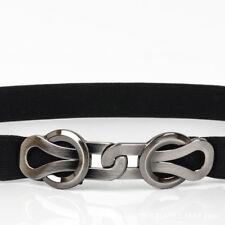 Women's Ladies Belt Metal Elastic Stretch Buckle Wide Waist Thin Waistband Belts