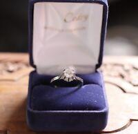 Bague solitaire or blanc 18 K et Diamant